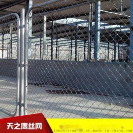 厂家包安装球场用勾花网 体育运动场围网 排球场篮球场施工