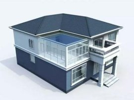 天津农村自建房 钢结构框架主体