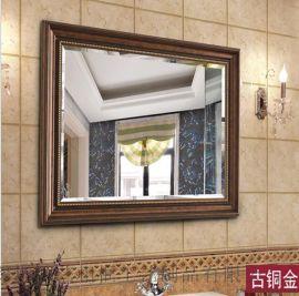 厂家直销欧美复古浴室镜 酒店卫浴室挂镜浴室镜子 ps发泡欧式镜框