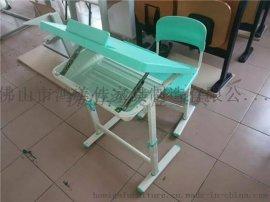台面可升降绘画桌,学生升降课桌椅广东鸿美佳厂家生产