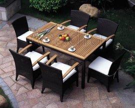 户外休闲藤餐桌椅(AC-RF40)