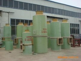 50吨玻璃钢锅炉烟气除尘器|双碱法脱硫除尘器工艺