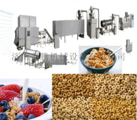新工藝早餐谷物玉米片生產線,早餐谷物粥片生產設備,玉米片膨化機
