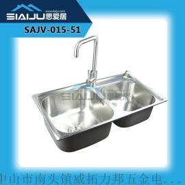 思爱居不锈钢304一体化水槽 厨房洗手盆