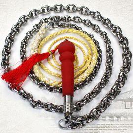 螺母不锈钢麒麟鞭 健身鞭甩鞭响鞭运动铁链鞭子铁鞭钢鞭软鞭长鞭