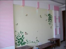 墙体手绘-电视背景墙