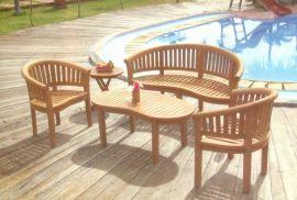户外家具实木咖啡桌椅