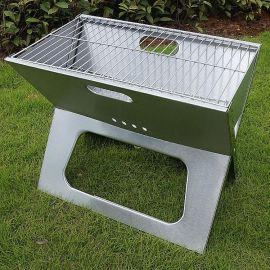 不锈钢A821S 家庭烧烤工具折叠式烧烤炉木炭BBQ含网架