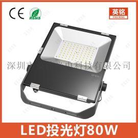 聚光投光灯 80W新款LED泛光灯 高光效户外工程投射照明灯工厂供应10W20W30W50W100W150W200W