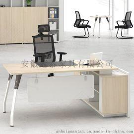 安徽冠泰家具黑白搭配办公桌椅 主管桌 经理桌大班 简约老板桌 可定制