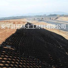 厂家直销 焊距330-660蜂巢式立体土工格室 护坡塑料焊接土工格室