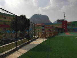 广州笼式4.5MM足球场围网 包塑勾花网-联川运动场围网建设