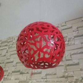 玛斯欧圆球吊灯现代简约艺术镂空雕花餐吊灯MS-P1062家居酒吧装饰藤艺吊灯