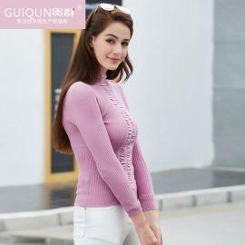 贵群四川羊绒衫厂家供应冬季羊绒衫女装套头针织衫
