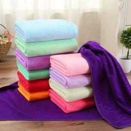 宇洁70*140超细纤维150g压花浴巾礼品巾