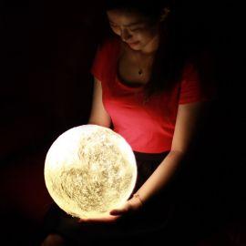 臺視3d打印裝飾創意小夜燈生日禮物遙控充電家居月球燈