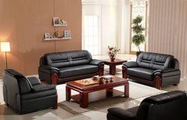 接待沙發三人位 五人位真皮會客沙發茶幾組合可支持定制