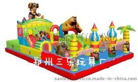 巢湖廣場小孩子玩的充氣蹦蹦牀多少錢 安徽50平方米充氣城堡現貨