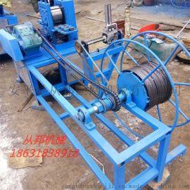从邦GB-4钢丝压扁机 铁丝冷轧扁线收线一体机