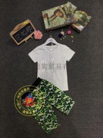 【巴拉邦】一线品牌童装 夏装T恤 折扣尾货批发