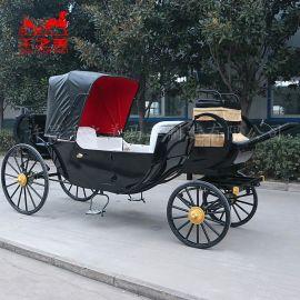 新品月亮船馬車雙排觀光馬車歐式馬車