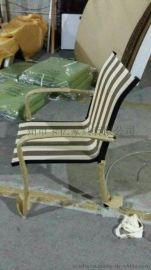 网布椅 休闲餐椅 户外餐椅 特斯林布椅
