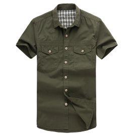 河北男装 男士短袖衬衫 短袖军装款式 保安服 商务男装