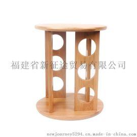 带转盘12孔竹制调味架 竹制品 竹工艺品