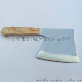 厂家供应高档5Cr15mov不锈钢砍骨斧 厨用砍斧刀 开山刀 骨刀