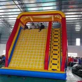 厂家直销新款儿童乐园淘气堡充气攀岩滑梯运动户外蹦床模型