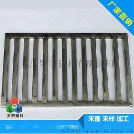 重庆厂家直销水篦子 201不锈钢矩管水篦子沟盖板 排水沟雨水水篦子定做