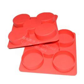 5格蛋糕模具 汉堡硅胶模 肉夹硅胶盒 保鲜盒