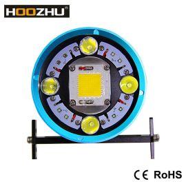 HOOZHU鸿珠 HV63便携式五色潜水补光灯上线 全网最大光通量12000流明 强光潜水手电 潜水灯