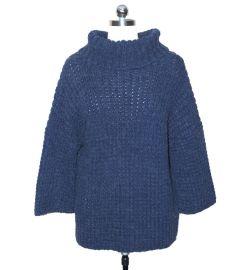 3.5针 粗针翻领女装毛衣网红针织衫小批量生产定制OEM贴牌
