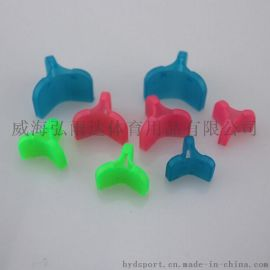漁具路亞漁鉤配件 多種顏色不同尺寸塑料魚鉤套  3本鉤套批發