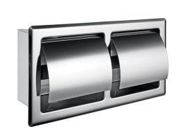 双卷卫生纸盒 304不锈钢嵌入式厕纸箱 小卷纸架