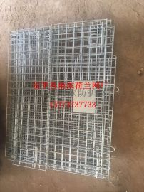 折叠式仓库笼 金属带轮可移动网格仓储笼