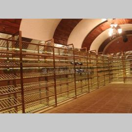 【创美恒定制】酒窖不锈钢酒架|商业酒窖|私人别墅、豪宅酒窖工程