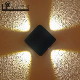 LED壁燈 十字星光四葉草戶內外牆壁點綴燈 科銳COB壁燈 廠家直銷