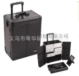 厂家直销万向轮拉杆行李箱手提包旅行箱大铝合金化妆箱JH572