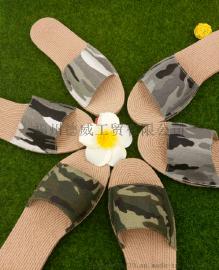 【厂家直销】夏季新款轻便时尚室内拖鞋帆布防滑软底户外女拖鞋夏