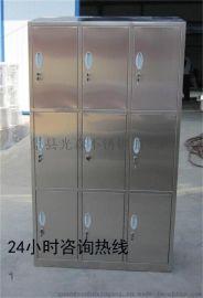 供应光森4门不锈钢更衣柜 简约现代工艺剪板折弯焊接而成