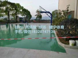 深圳球場硅pu施工團隊 硅pu羽毛球場 中山硅pu球場 硅pu球場廠家直銷