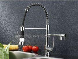 提供温州科尚卫浴外贸出口厨房抽拉水龙头