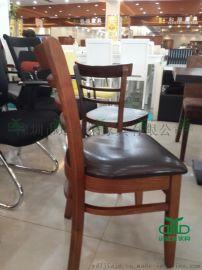 实木咖啡厅餐厅奶茶店家用餐椅 西湖春天实木餐桌椅供应厂家
