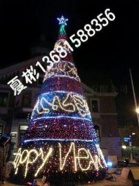 北京【专业圣诞装饰、灯饰画】缠灯树木亮化