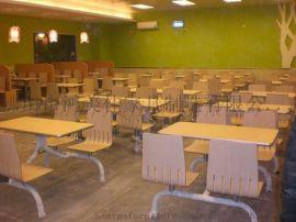 彎木連體四人位餐桌椅, 廣東佛山彎木餐桌椅廠家加工定制