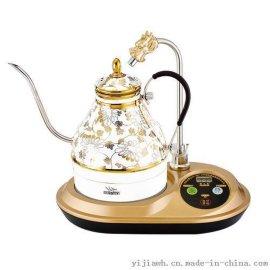 智能礼品 烁之乔电水壶  陶瓷电热水壶 蛟龙戏水 黄金藤花