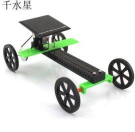 千水星 太陽能小車皮帶版2號 科技小制作 diy玩具套裝拼裝教育材料包