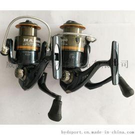 钓鱼轮 金属线杯 折叠摇臂纺车轮 鱼线轮